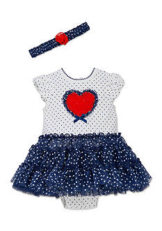 Little Me Heart Bodysuit and Tutu Set