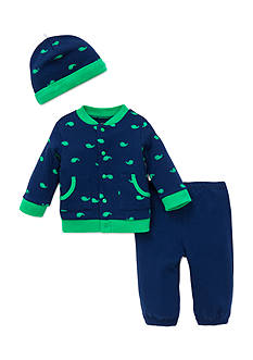 Little Me 3-Piece Whale Cardigan, Pants, and Hat Set