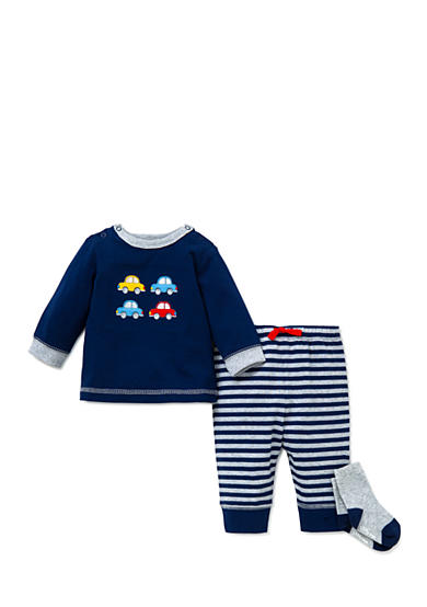 Little Me 3-Piece Cars Tunic, Socks, and Jogger Pants Set