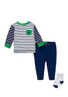 Little Me 3-Piece Whale Sweatshirt, Socks, and Jogger Pants Set