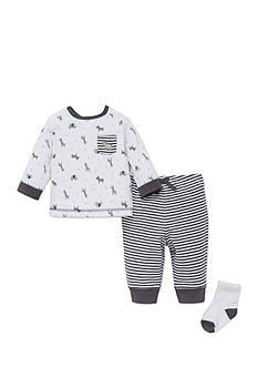 Little Me Safari Shirt, Pant, and Socks Set