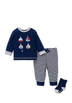 Little Me 3-Piece Nautical Sweatshirt, Socks, and Jogger Pants Set