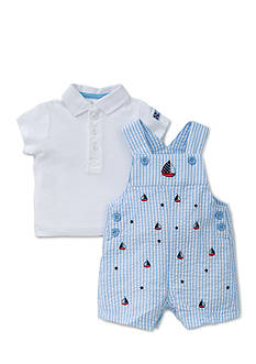 Little Me 2-Piece Sailboat Polo and Shortall Set
