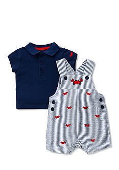 Little Me 2-Piece Crab Polo and Shortall Set