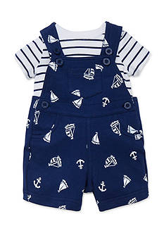 Little Me 2-Piece Nautical Tee and Shortalls Set