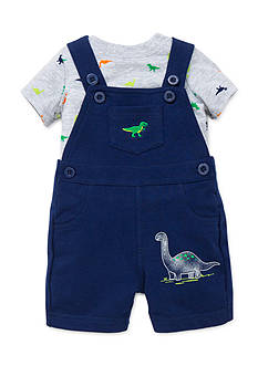Little Me 2-Piece Dinosaur Tee and Shortalls Set