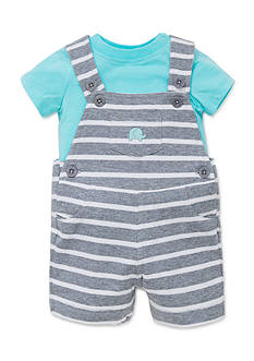 Little Me 2-Piece Elephant Tee and Shortalls Set