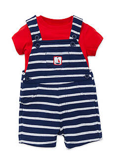 Little Me 2-Piece Sailboat Tee and Shortalls Set