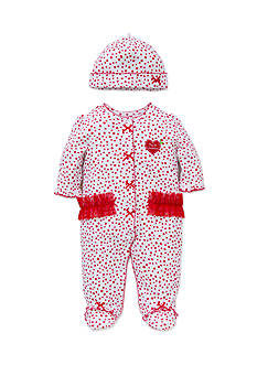 Little Me White Red Dotty Footie 2-Piece Set