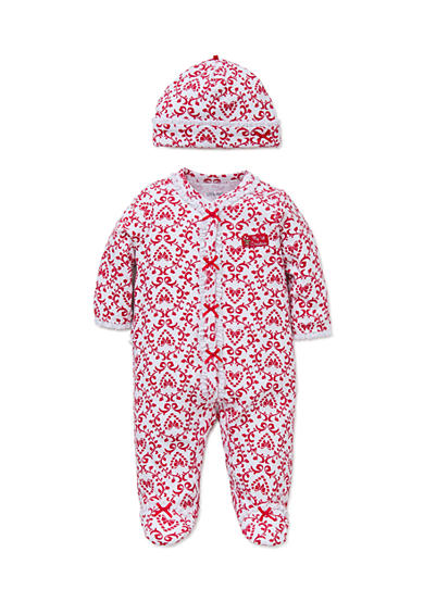 Little Me Red Damask Footie 2-Piece Set