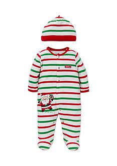 Little Me Multi Stripe Santa Footie 2-Piece Set