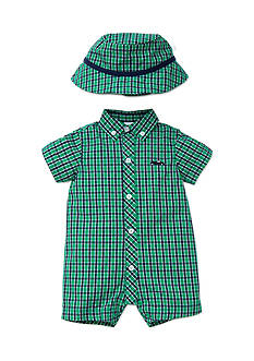 Little Me 2-Piece Romper and Hat Set