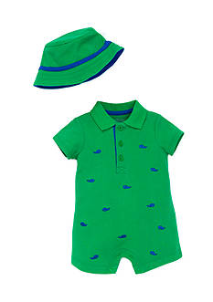 Little Me Whale Romper with Hat