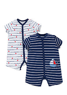 Little Me 2-Pack Nautical Ship Romper