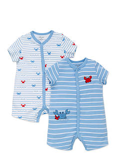 Little Me 2-Pack Crab Romper