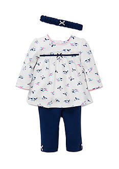 Little Me 3-Piece Bird Tunic, Legging, and Headband Set