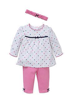 Little Me Pink Heart Tunic 3-Piece Set