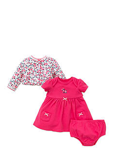 Little Me 3-Piece Floral Cardigan, Dress, and Bloomer Set