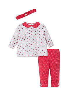 Little Me 3-Piece Heart Tunic, Headband, and Legging Set