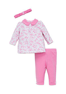 Little Me 3-Piece Bunny Floral Tunic, Headband and Leggings Set