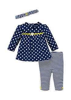 Little Me 3-Piece Daisy Top, Headband, and Pants Set