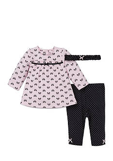 Little Me 3-Piece Bow Tunic, Legging and Headband Set