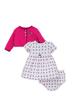 Little Me Anchor Cardigan and Dress Set