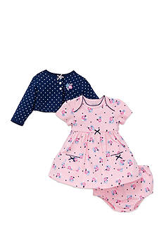 Little Me Rose and Daisy Cardigan Dress Set