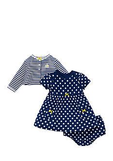 Little Me Daisy Cardigan Dress Set