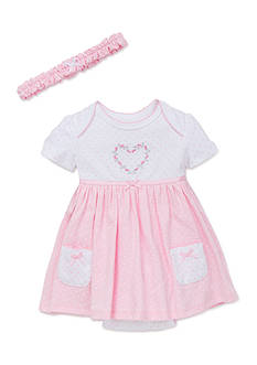 Little Me 2-Piece Heart Dots Dress Set