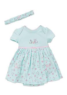 Little Me 2-Piece Bunnies Dress and Headband Set