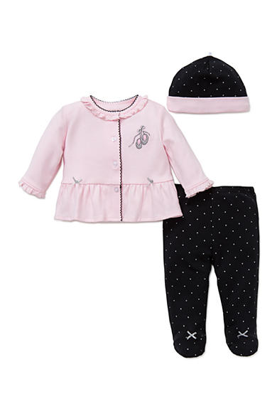 Little Me 3-Piece Ballet Tunic, Hat, and Footed Pants Set