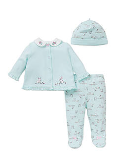 Little Me 3-Piece Bunny Tunic, Hat and Footed Pants Set