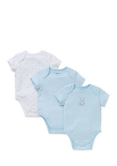 Little Me 3-Piece Bear and Puppy Bodysuit