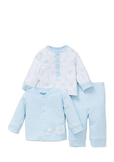 Little Me 3-Piece Safari Pals Sweater, Tee, and Pants Set