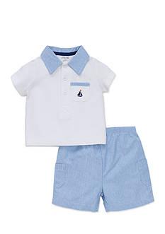 Little Me Simple Sailor Short Set