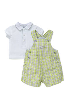 Little Me 2-Piece Happy Whales Polo and Shortall Set
