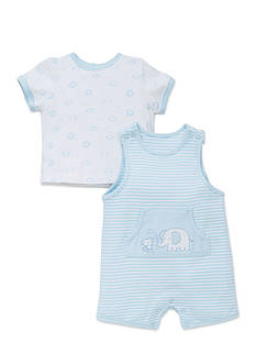 Little Me 2-Piece Safari Pals Overall Set