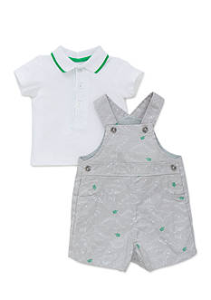 Little Me 2-Piece Dinosaur Polo and Shortall Set