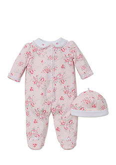 Little Me 2-Piece Whimsical Blooms Footie and Hat Set
