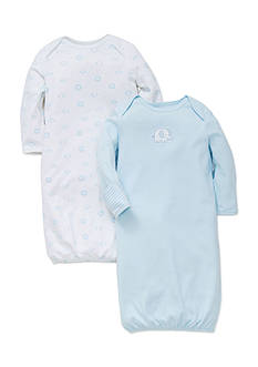 Little Me 2-Pack Elephant Sleeper Gown Set