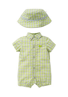 Little Me 2-Piece Happy Whales Romper and Hat Set