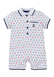 Little Me Sailboat Printed Romper