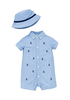 Little Me Simple Sailor Romper with Hat