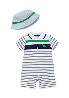 Little Me 2-Piece Dinosaur Hat and Romper Set