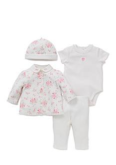 Little Me 4-Piece Bouquet Bodysuit, Tunic, Hat, and Pants Set