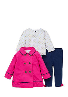Little Me 3-Piece Peacoat, Tunic, and Leggings Set