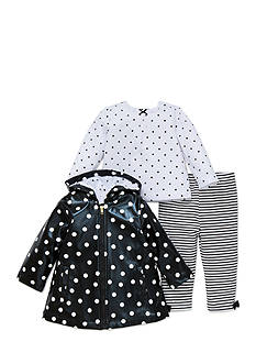 Little Me 3-Piece Polka Dot Jacket, Tee, and Pants Set Infant Girls