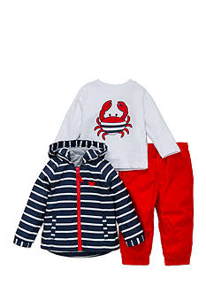 Little Me 3-Piece Crab Jacket, Shirt, and Pants Set