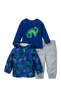 Little Me 3-Piece Dinosaur Jacket, Shirt, and Pants Set